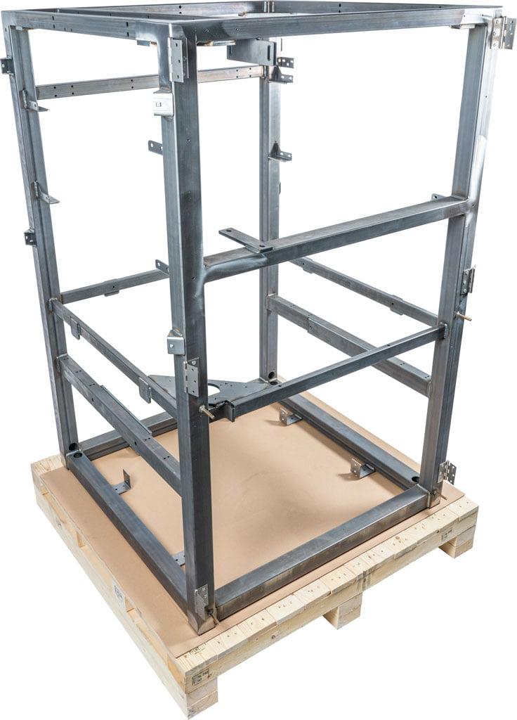Framebouw: Buizenframe lassamenstelling uit staal, wordt in een vervolgstap nog gepoedercoat