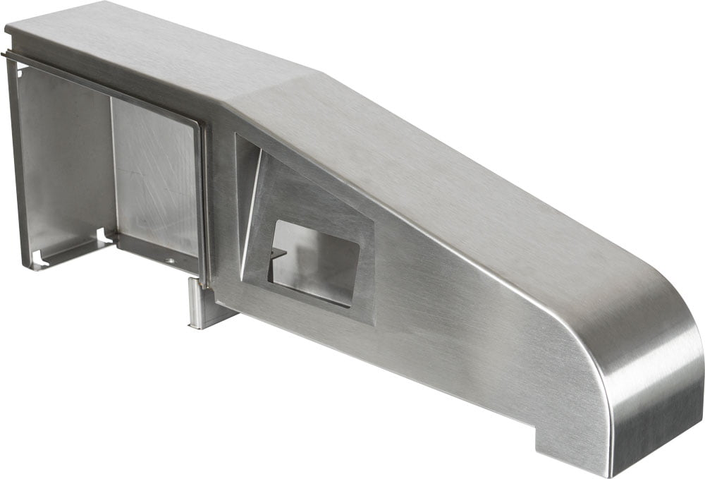 Plaatbewerking: Geslepen machinebehuizing met RVS finish en gewalste plaat