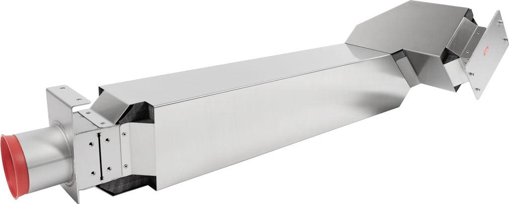 Montage plaatbewerking samenstelling: RVS Luchtkanaal met daarin gelijmde isolatie