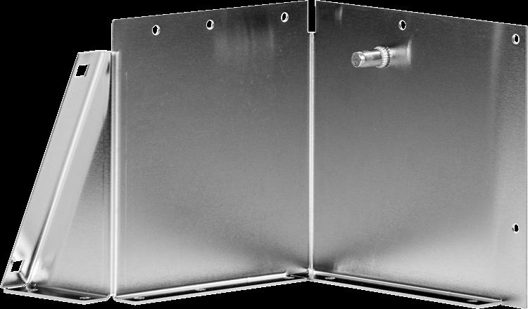 Gekant RVS plaatwerk onderdeel met persdelen