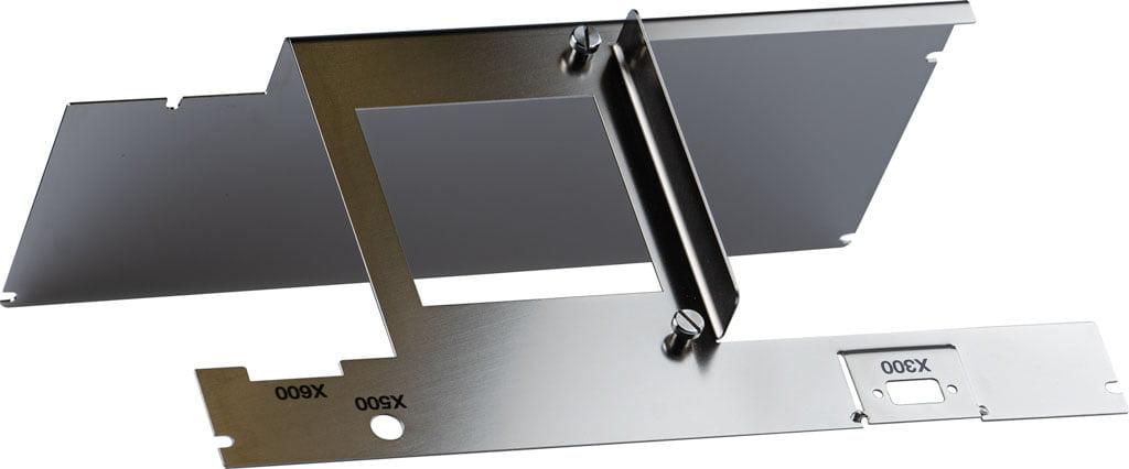 Plaatbewerking product uit roestvast staal en bedrukking