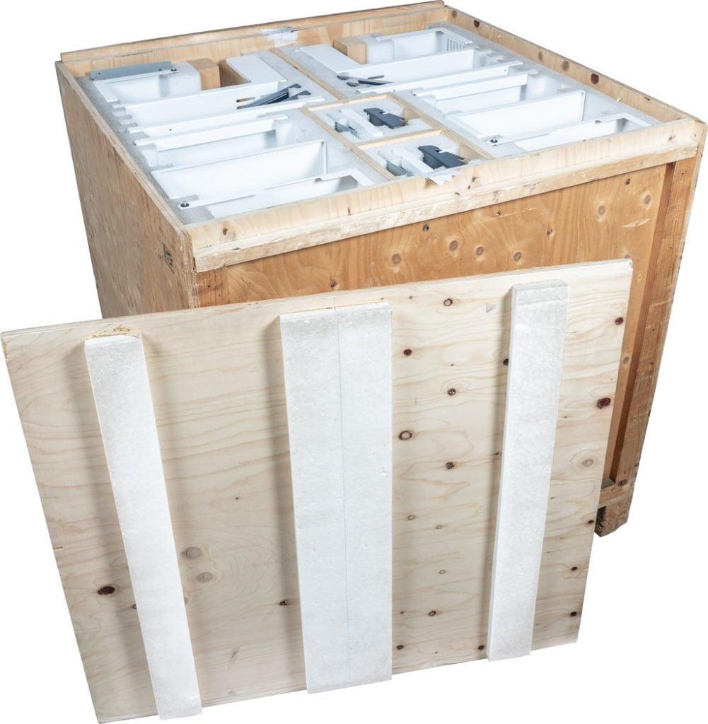 Rouleerverpakking voor krasvrij transport van gelakte delen